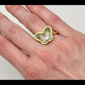 Jewelry - BOGO 75% OFF! Gold Plated SS Butterfly Ring Sz 9